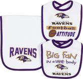 Gerber Baltimore Ravens Three-Piece Bib & Burp Cloth Set