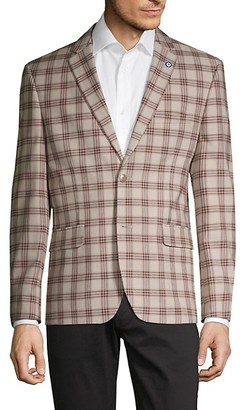 Ben Sherman Standard-Fit Plaid Sportcoat