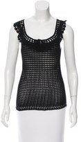 Blumarine Sleeveless Crochet Top