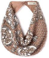 Mignonne Gavigan Le Charlot Beaded Scarf Necklace, Nude