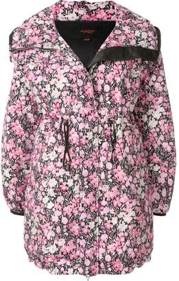 Giambattista Valli floral print hooded parka