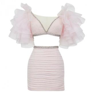Giambattista Valli X H&m Pink Silk Tops