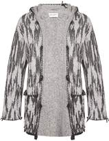 Saint Laurent Jacquard-knit hooded cardigan