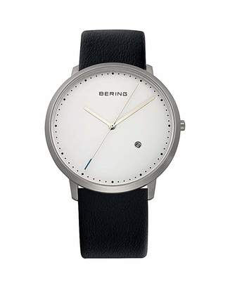Gents Bering White Dial Strap Watch