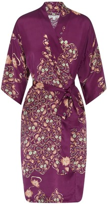 Genevie - Silk Kimono Reina - Purple / S/M