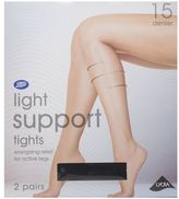 Boots 15 Denier Light Support Black Tights 2 Pair Pack