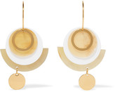 Marni Gold-tone, Acrylic And Horn Earrings - one size