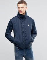 Bench Funnel Neck Jacket In Navy