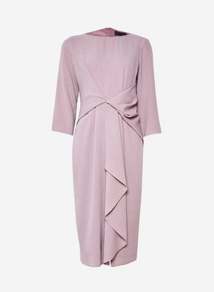 Dorothy Perkins Womens **Luxe Pink Manipulated 3/4 Sleeve Midi Shift Dress, Pink