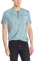 Buffalo David Bitton Men's Nakum Short Sleeve Henley Striped Fashion Knit Shirt