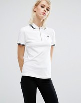 Fred Perry Zip Neck Pique Shirt