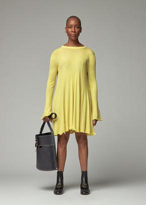 Chloé Women's Fine Rib Knit Tunic Top in Citrus Yellow Size XS