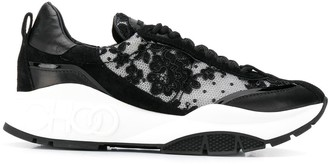 Jimmy Choo Raine floral lace sneakers
