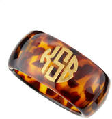 Moon and Lola Tortoise Acrylic Block Monogram Bangle
