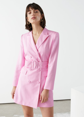 And other stories Belted Blazer Mini Dress