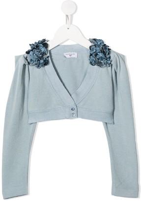 MonnaLisa Floral Applique Cardigan