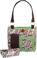 2 Red Hens Rooster Latte Swirl Diaper Bag by