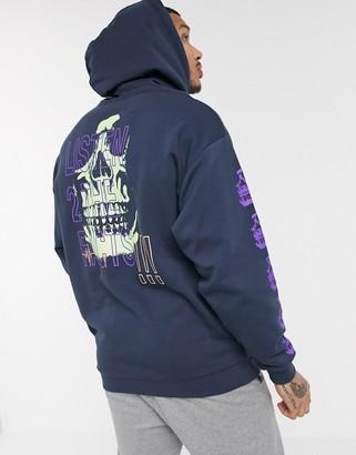 ASOS DESIGN oversized hoodie multi placement print