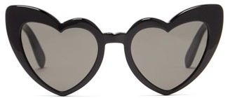 Saint Laurent Loulou Heart-shaped Acetate Sunglasses - Black