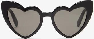 Saint Laurent Loulou Heart-shaped Acetate Sunglasses - Womens - Black