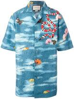 Gucci camp collar garden print shirt