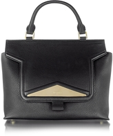 Vionnet Mosaic 30 Black Leather and Ayers Medium Satchel Bag w/Shoulder Strap