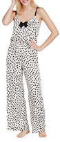 Kate Spade Charmeuse Dotted Jumpsuit
