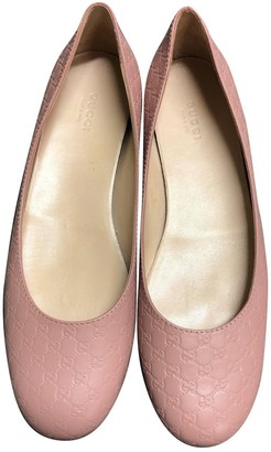 Gucci Marmont Pink Leather Ballet flats