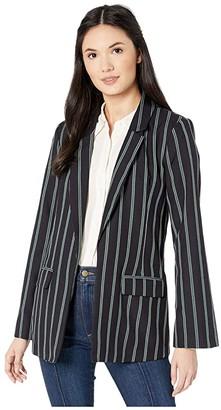 BCBGeneration Boyfriend Blazer Jacket (Dark Navy Combo) Women's Jacket