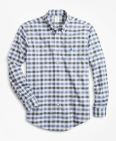 Brooks Brothers Non-Iron Milano Fit Multi-Gingham Dobby Sport Shirt
