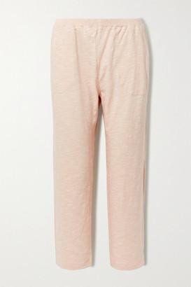 Skin Fabianne Cropped Slub Cotton-jersey Pants - Pink