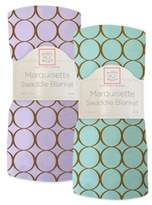 Swaddle Designs Mocha Mod Circles Marquisette Swaddling Blanket