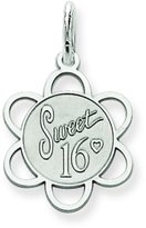 FindingKing Sterling Silver Sweet Sixteen Disc Charm Birthday