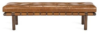Interlude Honor Genuine Leather Bench