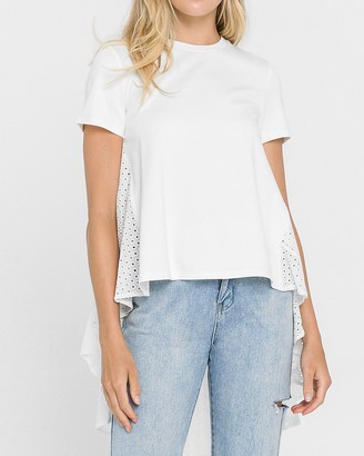 Express English Factory White High Low Top