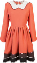 Fendi long-sleeved ruffled dress - women - Silk/Wool - 40