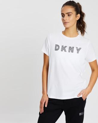 DKNY Track Logo Short Sleeve Tee