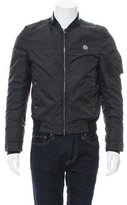 John Richmond Leather-Accented Windbreaker Jacket w/ Tags