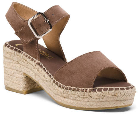 c871dc4e4d0 Made In Spain Heeled Suede Espadrilles