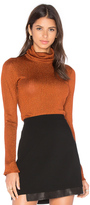 Alice + Olivia Billi Slim Turtleneck Sweater In Copper