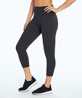 Bally Total Fitness Women's Active Pants HEATHER - Heather Charcoal 22'' High-Waist Tummy Control Capri Leggings - Women