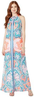 Lilly Pulitzer Hollyn Maxi Dress (Tangerine Tangerine Dream Engineered Dress) Women's Dress