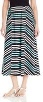 Notations Women's Stripe Ity Maxi Skirt