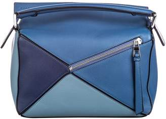 Loewe Puzzle Blue Leather Bags