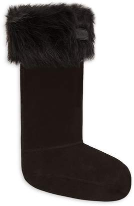 Hunter Faux Fur-Trim Boot Socks
