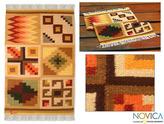 Novica Peruvian 'Calendar' Wool Rug (2' x 3')