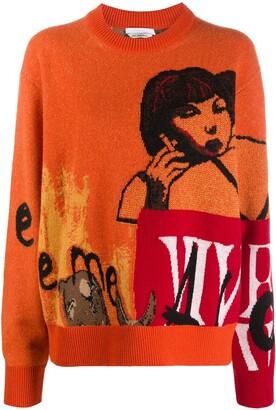 Chloé x Rita Ackermann graphic intarsia jumper