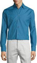 Eton Medallion-Print Long-Sleeve Sport Shirt, Navy