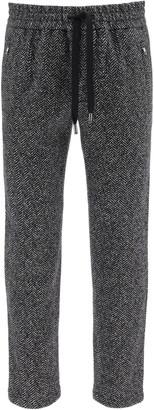 Dolce & Gabbana Chevron Wool Jogger Pants