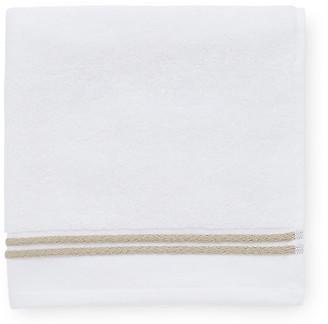 Sferra Aura Hand Towel - White/Almond